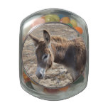 Adorable Donkey Glass Candy Jar