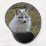 Adorable White Fox Gel Mouse Pad
