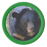 Black Spectacled Bear Poker Chips Set