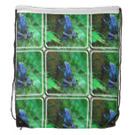 Blue Poison Arrow Frog Drawstring Backpack