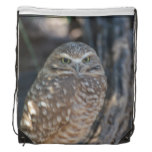 Burrowing Owl Drawstring Bag