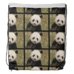 Cute Giant Panda Bear Drawstring Backpack