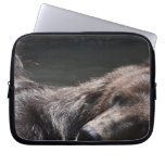 Cute Playful Brown Bear Laptop Sleeve