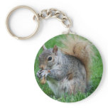 Grey Squirrel  Keychain