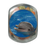 Lovable Dolphin Glass Candy Jar