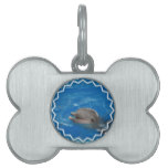 Lovable Dolphin Pet ID Tag