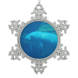 Manatee Snowflake Pewter Christmas Ornament