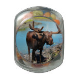 Moose Glass Jar