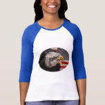 Patriotic Eagle Image Baseball T-Shirt