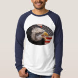 Patriotic Eagle Image Long Sleeve Men's T-Shirt