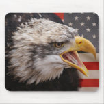 Patriotic Eagle Image Mouse Pad