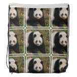 Petulant Panda Bear Drawstring Bag