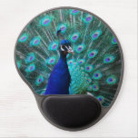 Pretty Peacock Gel Mouse Pad