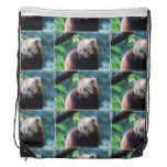 Red Panda Drawstring Backpack