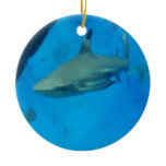 Small Black Tipped Shark Ceramic Ornament
