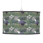 Standing American Bald Eagle Ceiling Lamp
