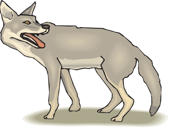 Clip Art Coyote Clipart free coyote clipart panting coyote