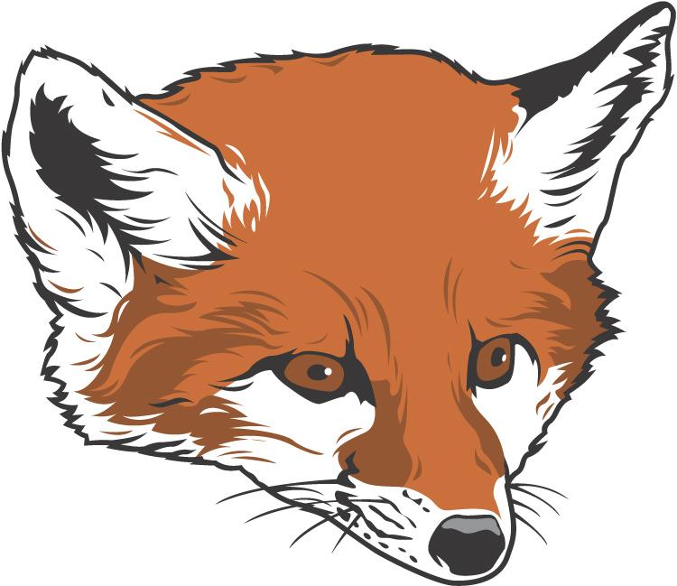 Cute cartoon fox face - photo#49