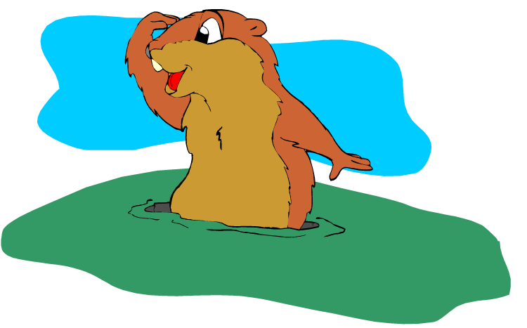 Free Groundhog Clipart