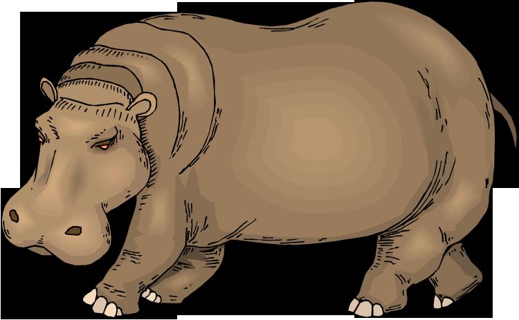 free clip art hippo cartoon - photo #16