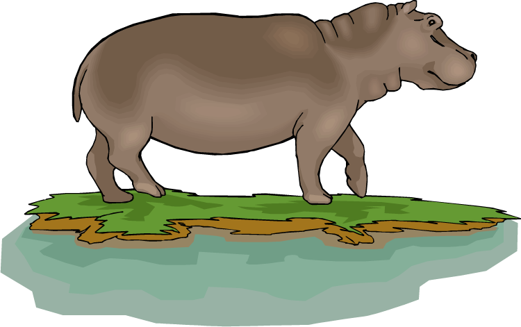 baby hippo clipart - photo #44