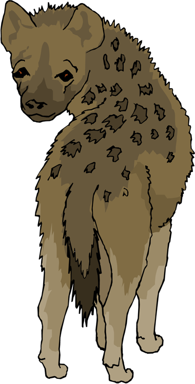 Cute hyena clipart