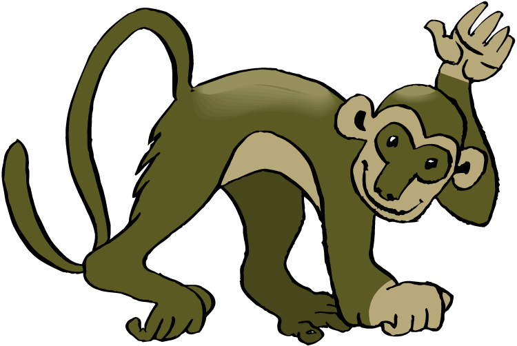 clipart image of monkey - photo #33