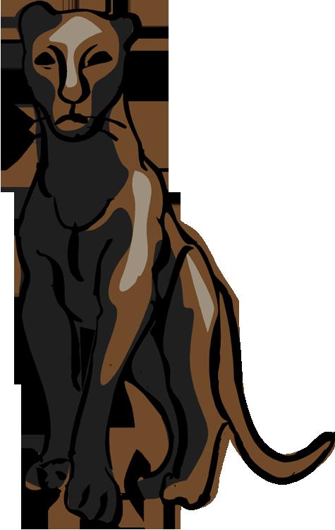 free panther clipart rh wildlife animals com Cartoon Panther Clip Art Panther Head Clip Art